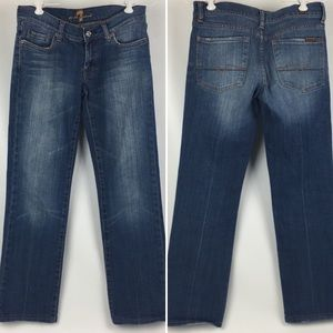 Seven 7 For All Mankind Denim Jeans Bootcut Sz 27